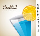 cocktail graphic design  ... | Shutterstock .eps vector #222399019