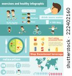 exercises fitness and healthy... | Shutterstock .eps vector #222402160