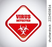virus graphic design   vector... | Shutterstock .eps vector #222403816