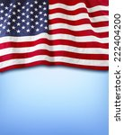american flag on blue background | Shutterstock . vector #222404200