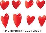 vector hearts | Shutterstock .eps vector #222410134