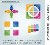 vector infographic template  ... | Shutterstock .eps vector #222413590