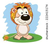 cartoon funny lion. | Shutterstock .eps vector #222415174
