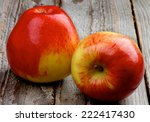 delicious ripe red variegated... | Shutterstock . vector #222417430