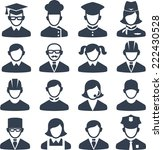 set of people icons  | Shutterstock .eps vector #222430528