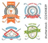 4 colorful logos and placards...   Shutterstock .eps vector #222434839