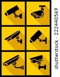 video surveillance  set yellow... | Shutterstock .eps vector #222440569