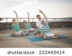 pilates personal trainer in a... | Shutterstock . vector #222445414