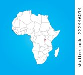 a map of africa with a selected ... | Shutterstock .eps vector #222446014