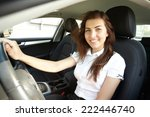 girl in the car | Shutterstock . vector #222446740