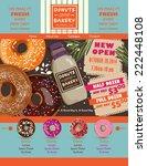 donuts shop poster design   Shutterstock .eps vector #222448108