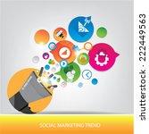 social marketing trend design   Shutterstock .eps vector #222449563