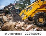 Bulldozer Loading Demolition...