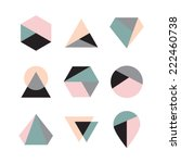 Set of icons, geometric logo | Shutterstock vector #222460738