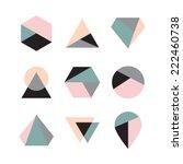 set of icons  geometric logo | Shutterstock .eps vector #222460738