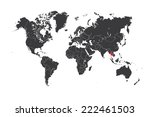 a map of the world with a... | Shutterstock .eps vector #222461503