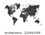 a map of the world with a... | Shutterstock .eps vector #222461509