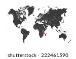 a map of the world with a... | Shutterstock .eps vector #222461590