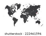 a map of the world with a... | Shutterstock .eps vector #222461596