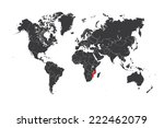 a map of the world with a... | Shutterstock .eps vector #222462079