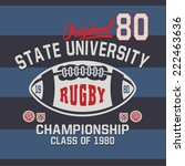 university rugby  championship  ... | Shutterstock .eps vector #222463636