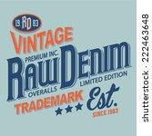 vintage typography  t shirt... | Shutterstock .eps vector #222463648