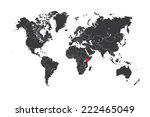 a map of the world with a... | Shutterstock .eps vector #222465049