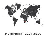 a map of the world with a... | Shutterstock .eps vector #222465100