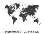 a map of the world with a... | Shutterstock .eps vector #222465133