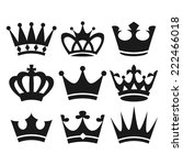 crown icons | Shutterstock . vector #222466018