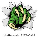 an illustration of a green... | Shutterstock .eps vector #222466594