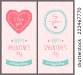 valentines day card with love....   Shutterstock . vector #222467770