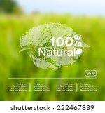 vector blurred nature... | Shutterstock .eps vector #222467839