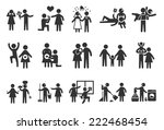 marriage life icons ... | Shutterstock .eps vector #222468454