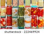 Pickled Vegetables In Mason...