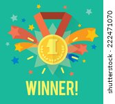 vector success win concept with ... | Shutterstock .eps vector #222471070