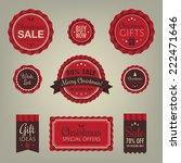 vintage christmas badges labels | Shutterstock .eps vector #222471646