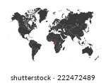 a map of the world with a... | Shutterstock . vector #222472489