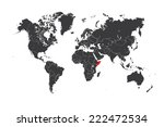 a map of the world with a... | Shutterstock . vector #222472534