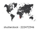a map of the world with a... | Shutterstock . vector #222472546
