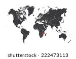 a map of the world with a... | Shutterstock . vector #222473113