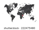 a map of the world with a... | Shutterstock . vector #222475480