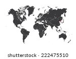 a map of the world with a... | Shutterstock . vector #222475510