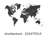 a map of the world with a... | Shutterstock . vector #222475513