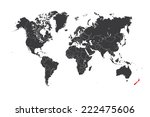 a map of the world with a... | Shutterstock . vector #222475606