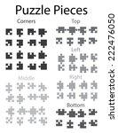 an illustration of jigsaw... | Shutterstock . vector #222476050
