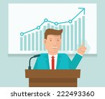 vector business conference... | Shutterstock .eps vector #222493360