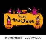 happy halloween banner   Shutterstock . vector #222494200