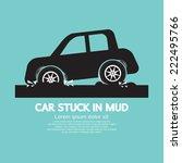 car stuck in mud vector... | Shutterstock .eps vector #222495766