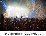 fun concert party disco light...   Shutterstock . vector #222498370